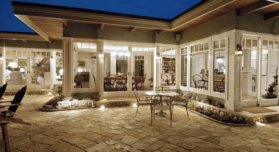 Stone pavers in California home on Carlisle Wide Plank Floors Blog