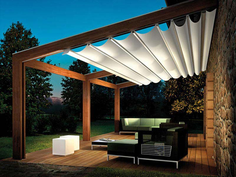 Retractable pergola ideas on Carlisle Wide Plank Floors Blog