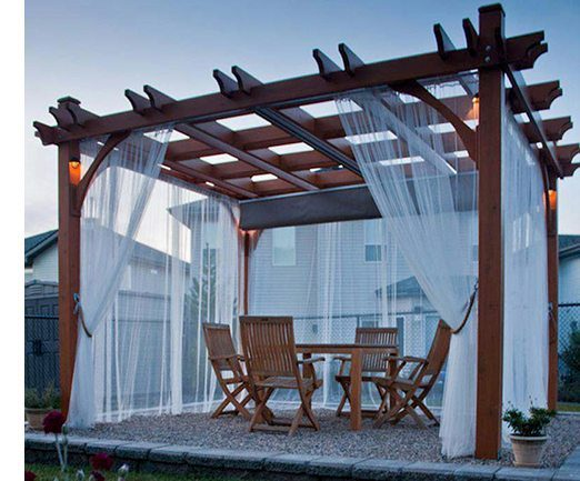 Outdoor pergola ideas from Carlisle Wide Plank Floors