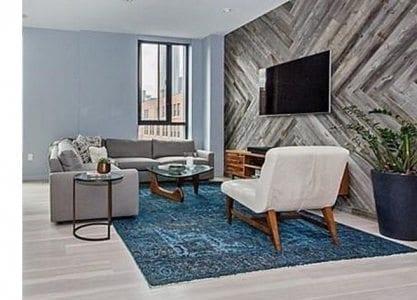 Carlisle Hickory Flooring & Boston Living Room