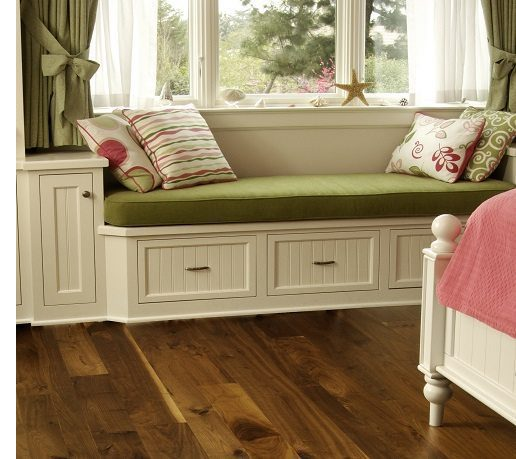 Reading Nook and Dark Wood Flooring from Carlisle Wide Plank Floors