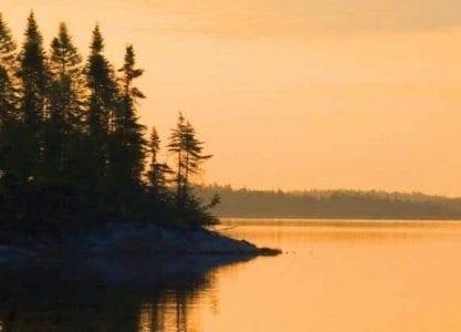 Morning sunrise on a lake