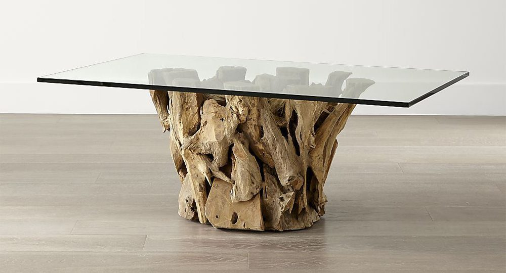 Crate & Barrel Driftwood Coffee Table on Carlisle Blog