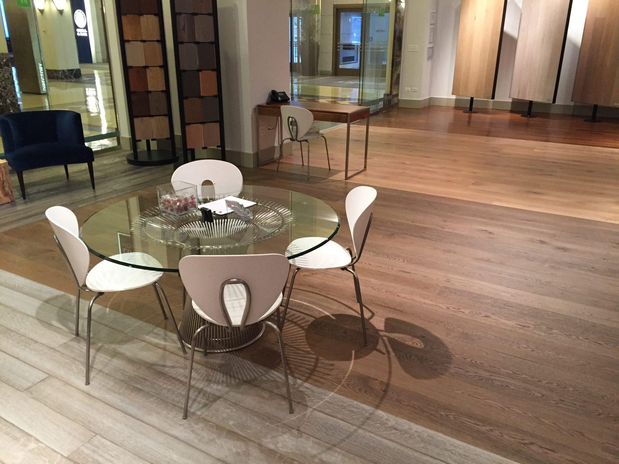 Carlisle Wood Floor Chicago Showroom Planning Table 2016