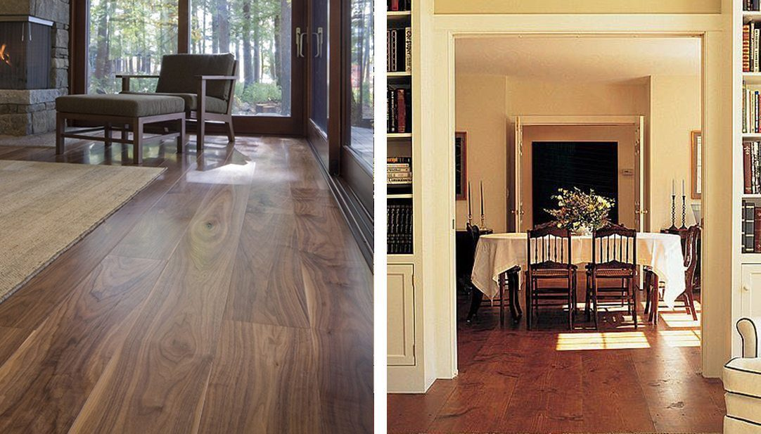 Prefinished Pine and Walnut Flooring from Carlisle Wide Plank Floors