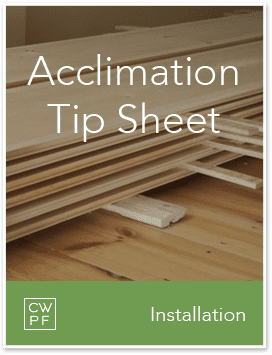 acclimation tip sheet