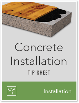concrete installation tip sheet