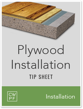 plywood installation tips