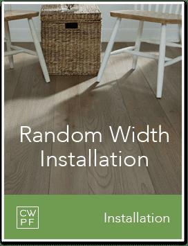 random width installation