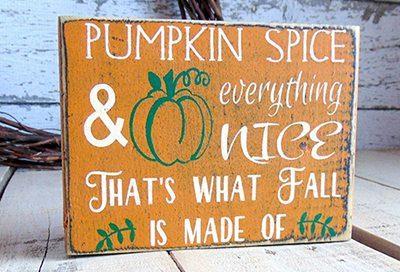 Festive fall sign