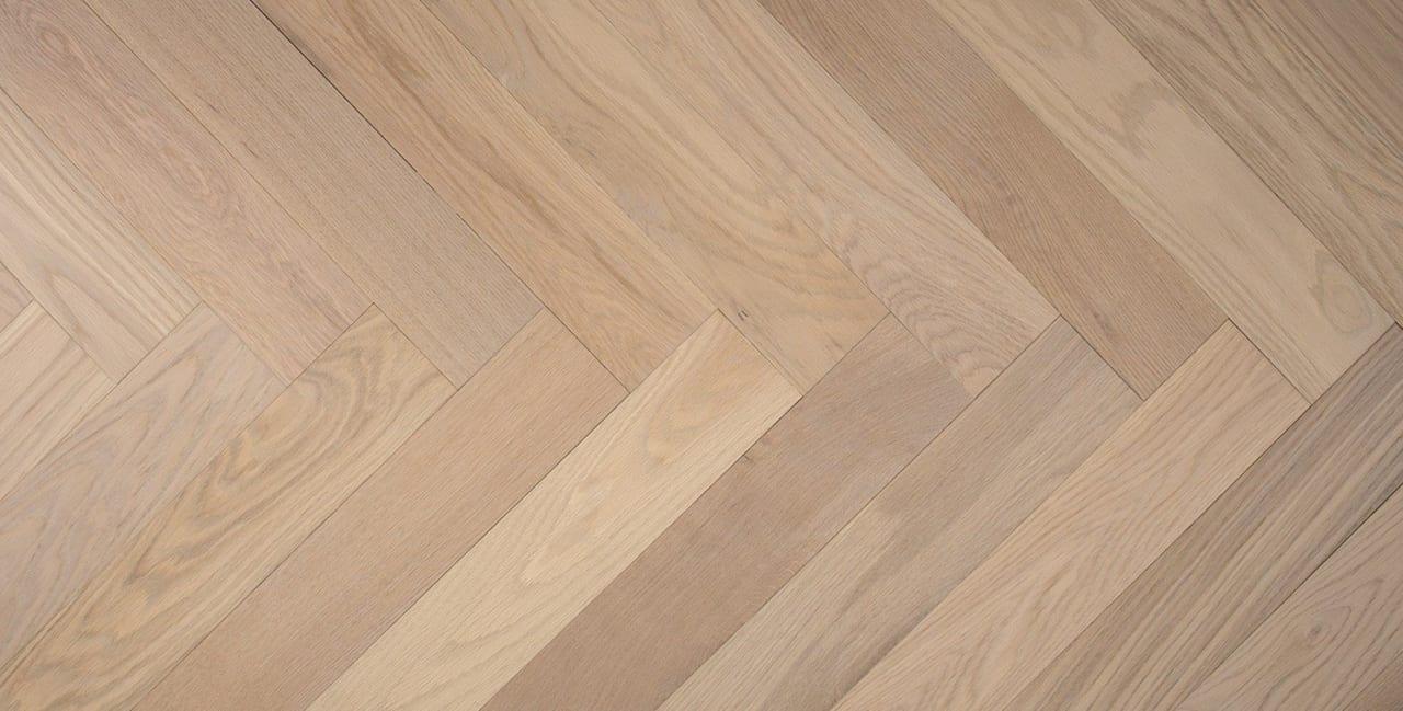 white oak floor studio herringbone bastille panel