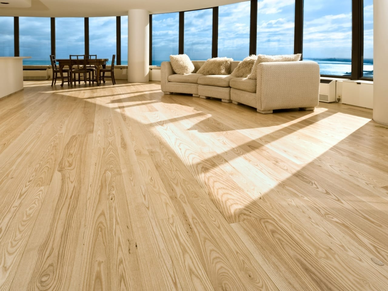 Ash Solid Wood Flooring In A Chicago Apartment