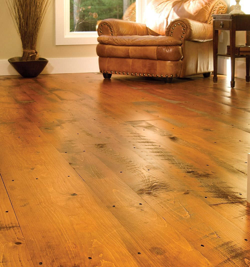 Distressed wood flooring carlisle wide plank floors for Wide plank wood flooring