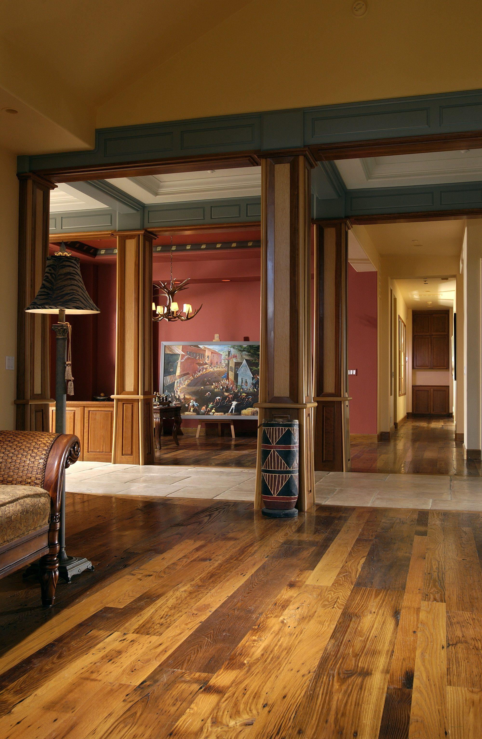 Reclaimed Chestnut Flooring Amber Hallway.