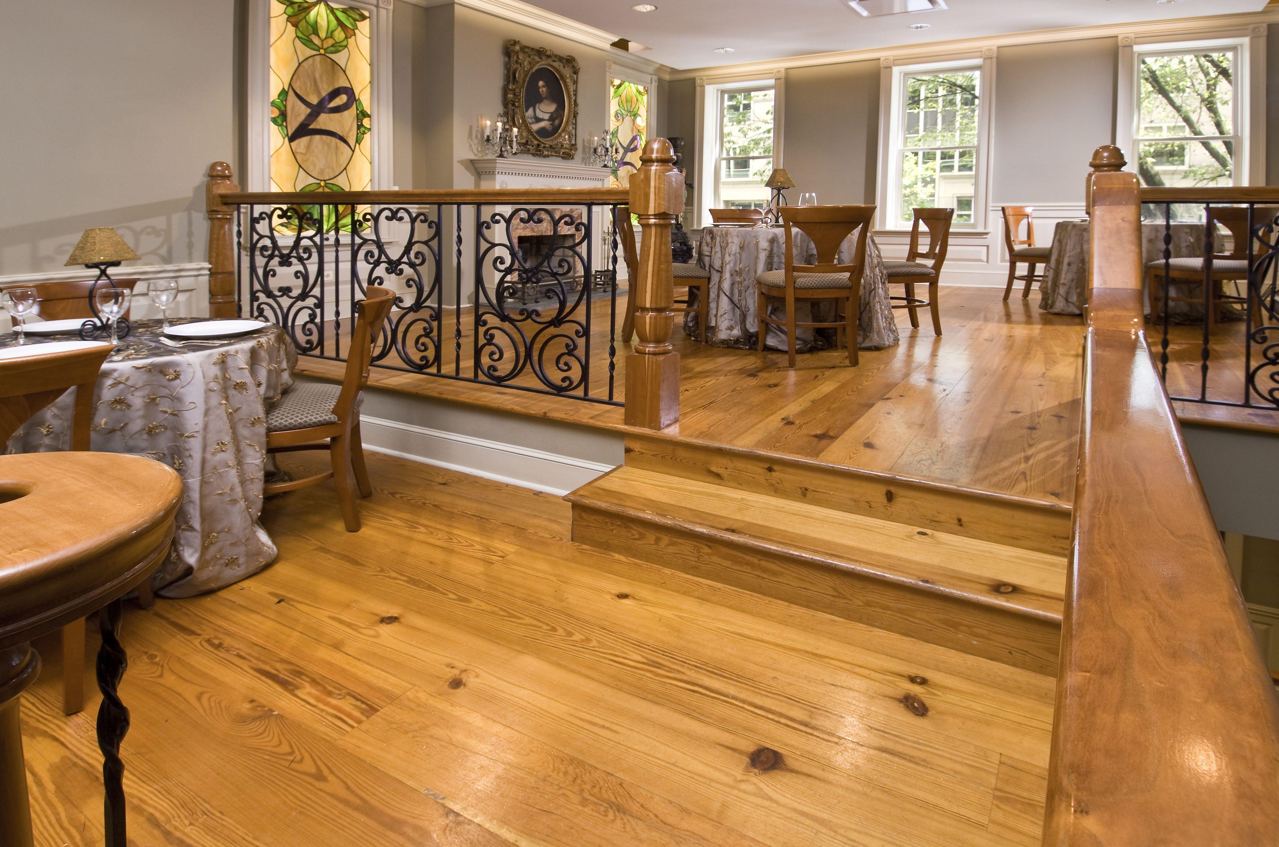 Reclaimed Heart Pine Flooring Commercial Dining Room