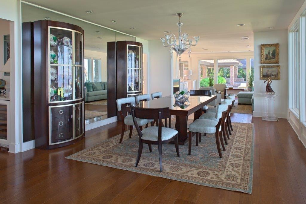 Dining Room Brown Hardwood