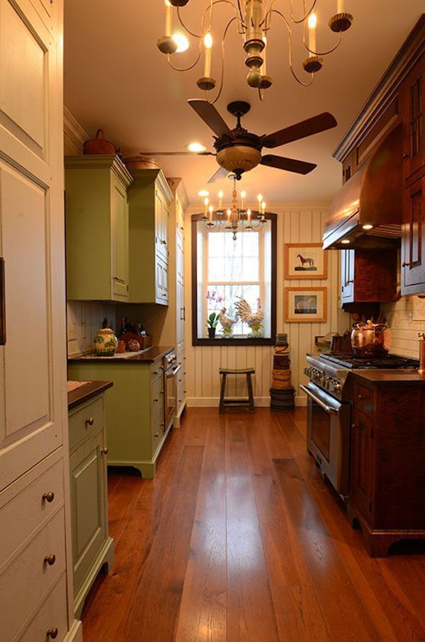 Hickory Flooring In A Rustic Kitchen