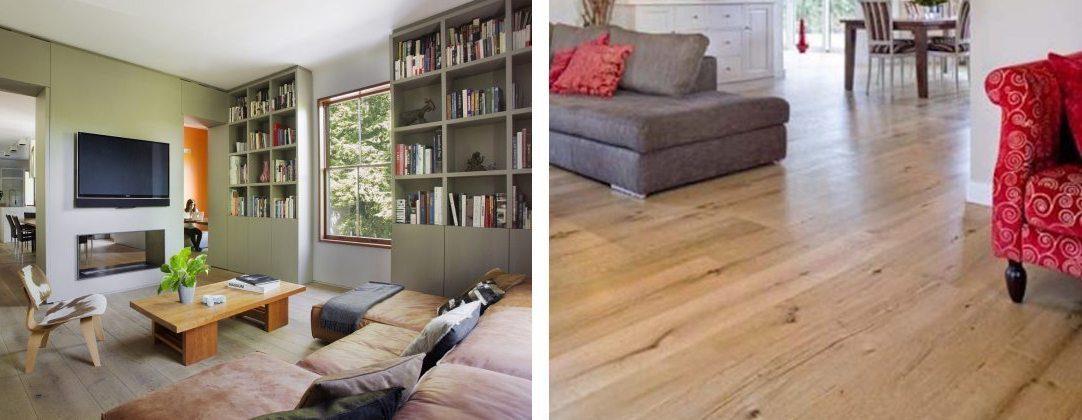 Two oak wood flooring examples