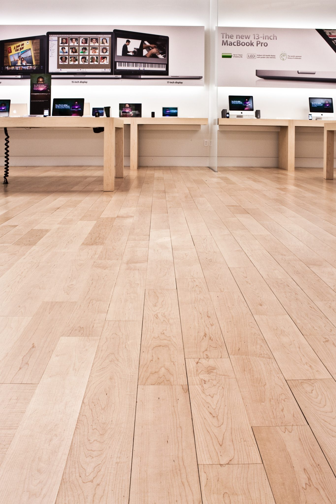 White Maple Flooring in a Retail Space