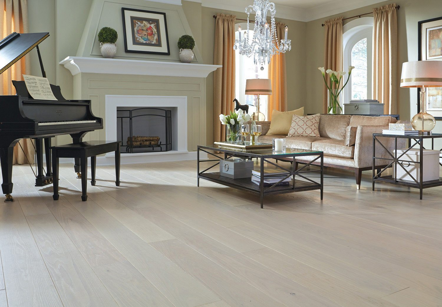 White Oak Flooring In A Living Room Carlisle Wide Plank