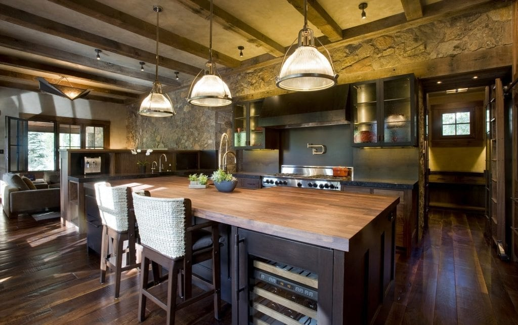 Carlisle Watermill Custom Flooring in a rustic kitchen