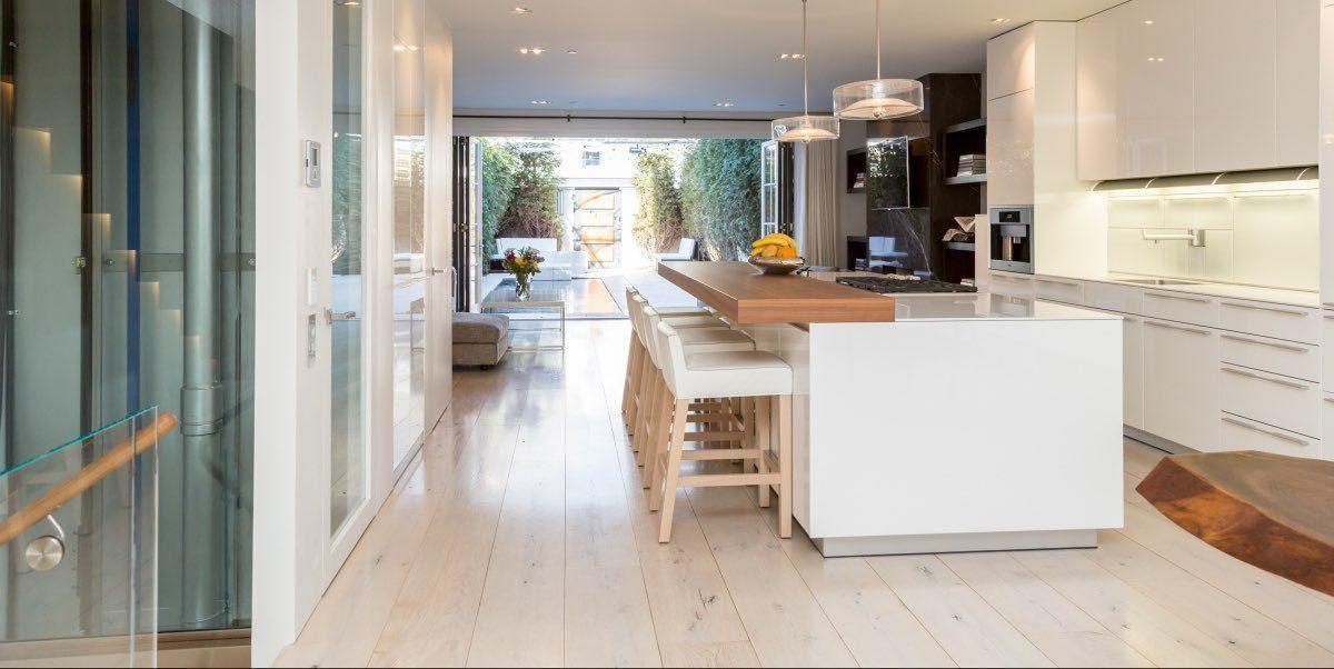 decorating white wood floors