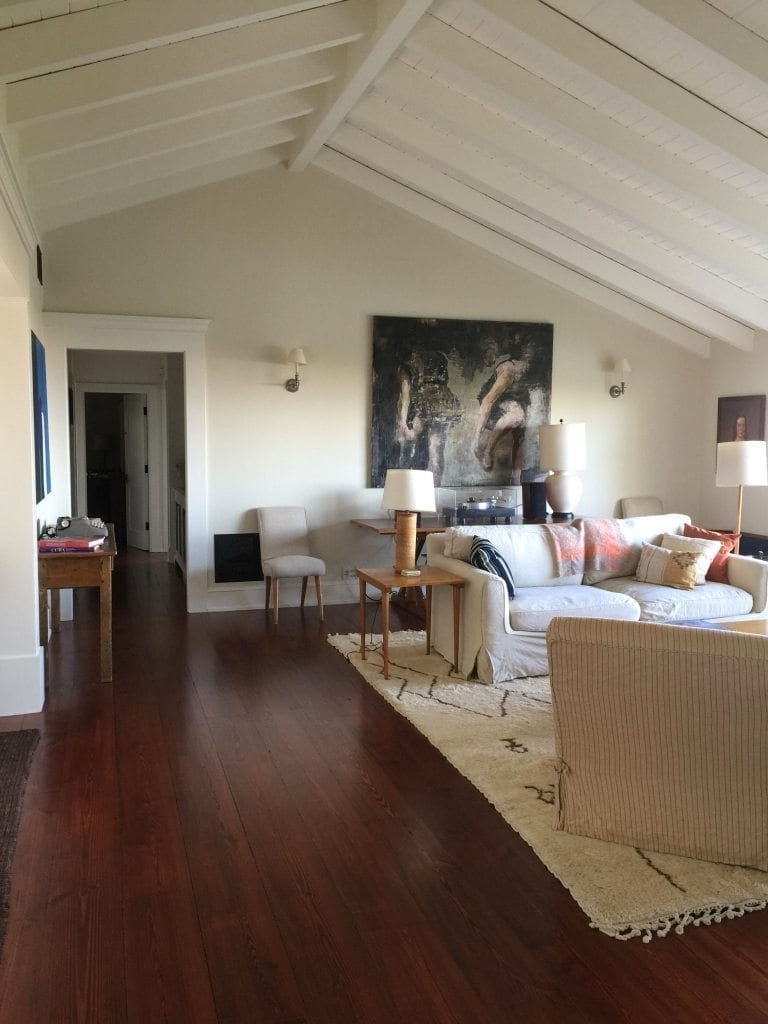 Eastern White Pine Flooring In A California Living Room
