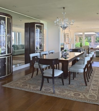 Rift and Quartersawn White Oak in a Formal Dining Room