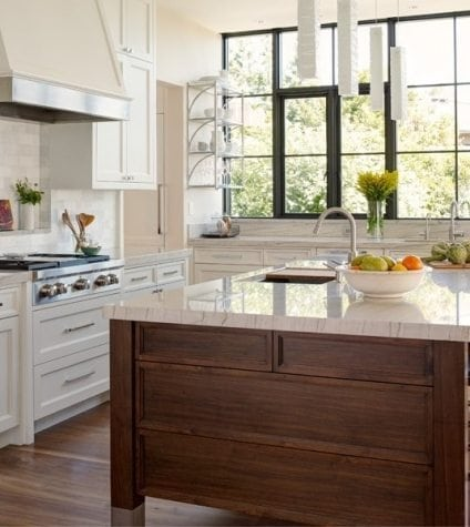Walnut Flooring in a Transitional Kitchen