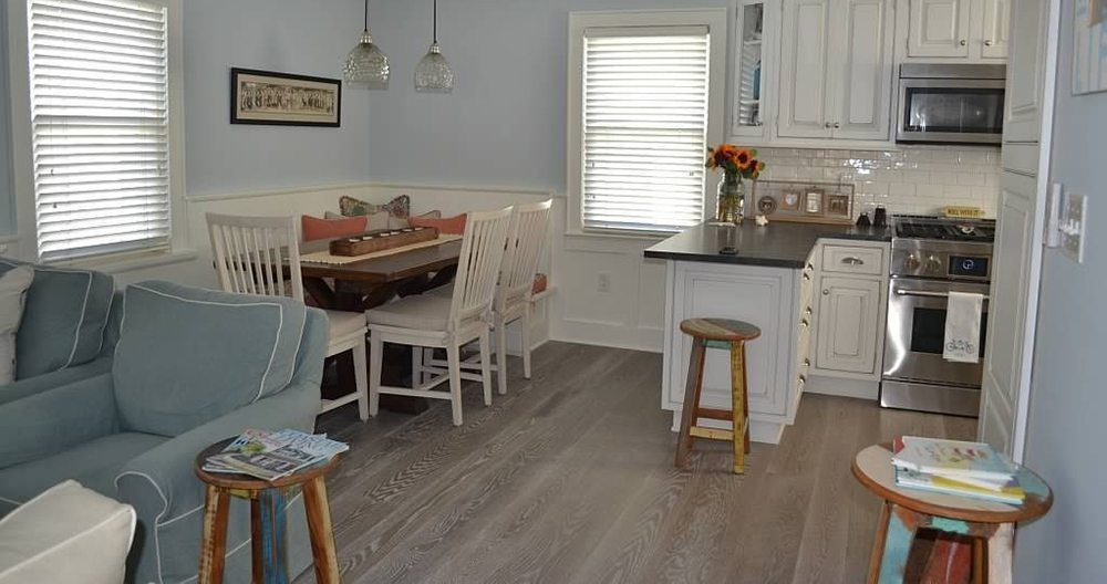Carlisle White Oak Floor In A Kitchen Beach Home