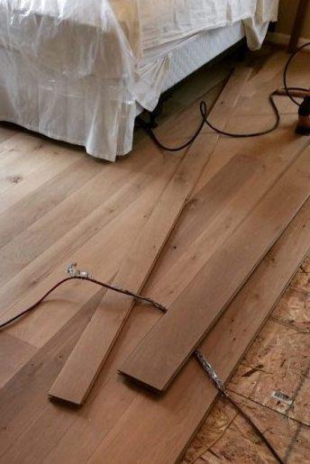installing prefinished hardwood flooring