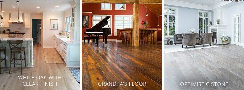 Carlisle Hardwood Flooring Options: Optimistic Stone, Grandpa's Floors, White Oak
