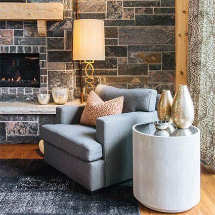 Ucci Residence Cozy Chair, Carlisle Wide Plank Floors