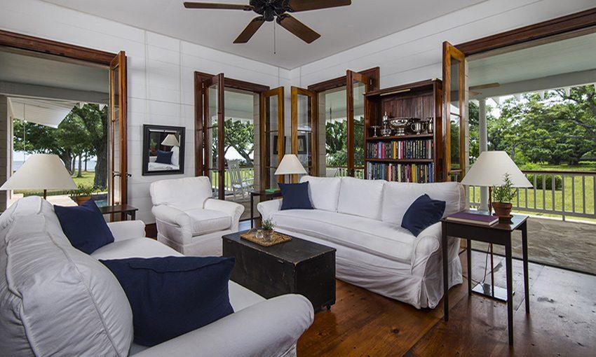 Carlisle Wide Plank Floors in Living Room with Tree Views