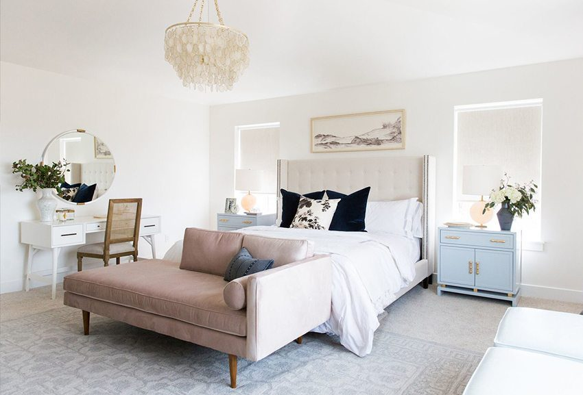 Blush Bedroom, Color Accents