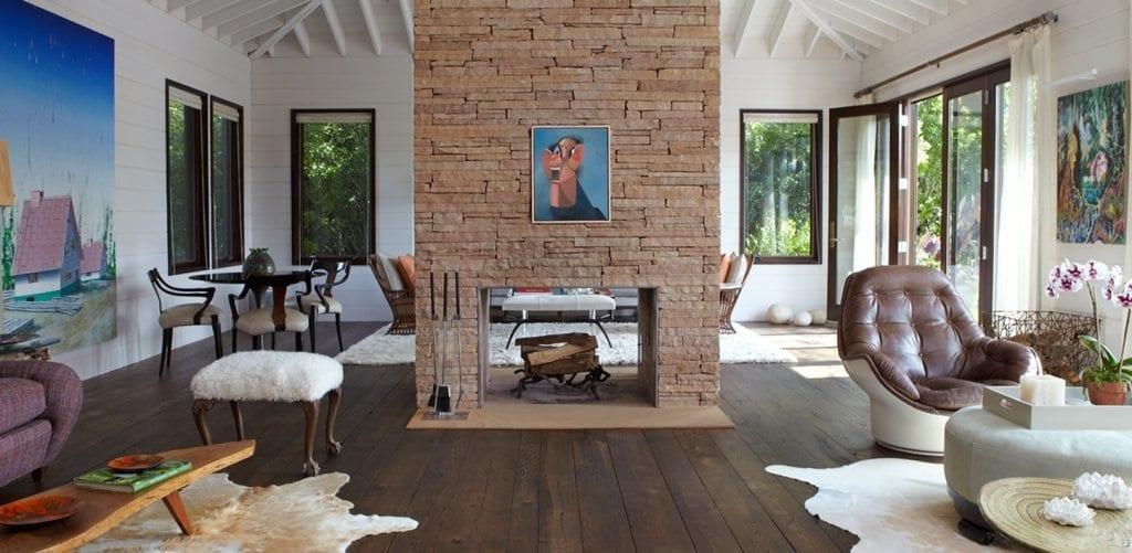 Carlisle Wide Plank Reclaimed Floors in Joe Nahem Living Room