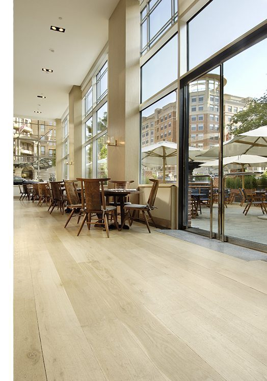 White Oak floors in the Park Hyatt Hotel & Restaurant, Washington, DC