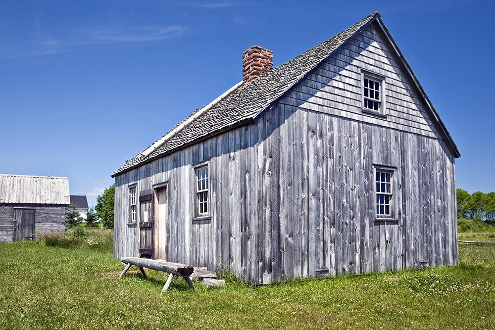 a early pioneer homestead, circa 1700s