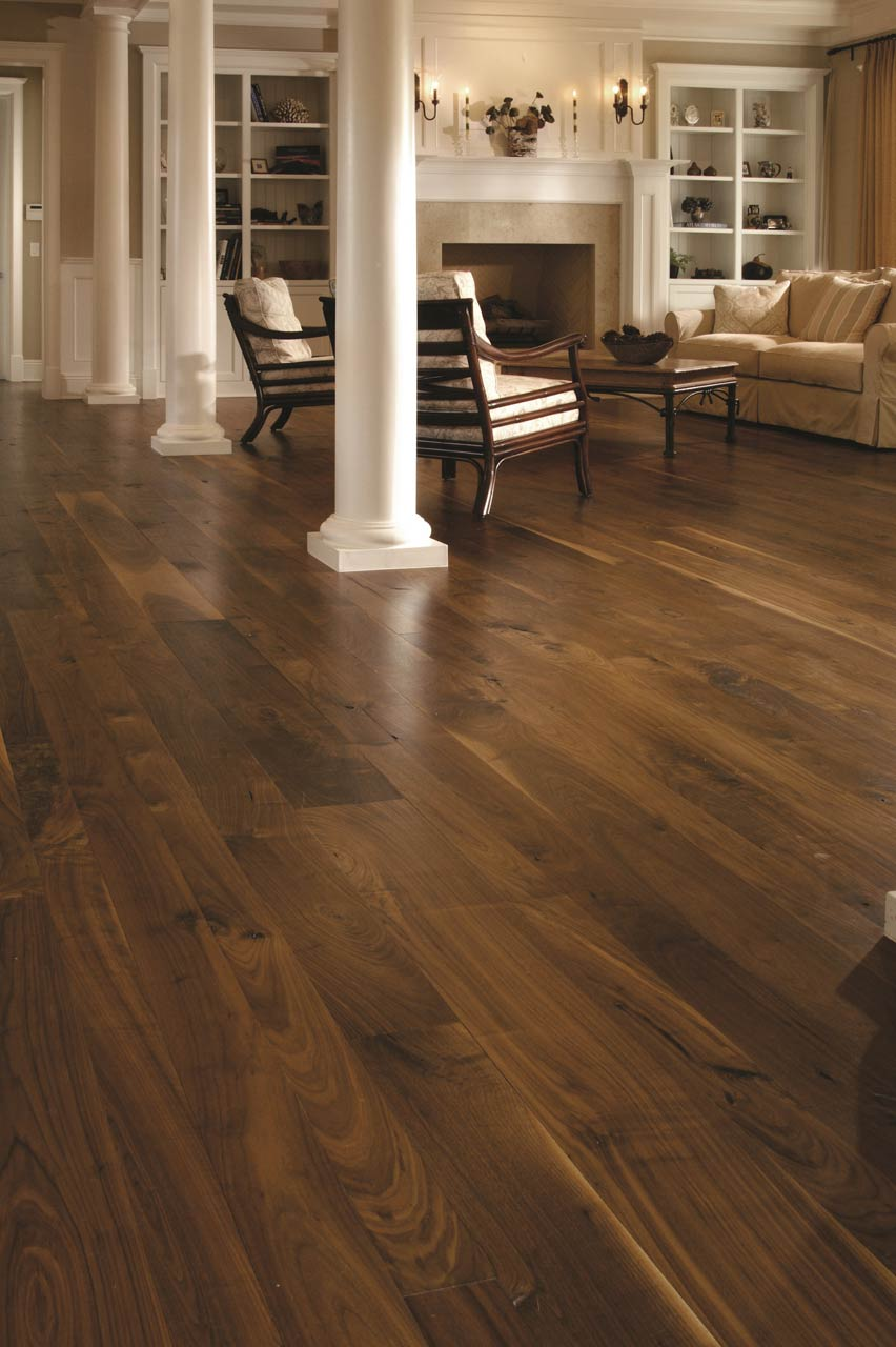 Traditional Living Space Walnut Floors Carlisle Wide