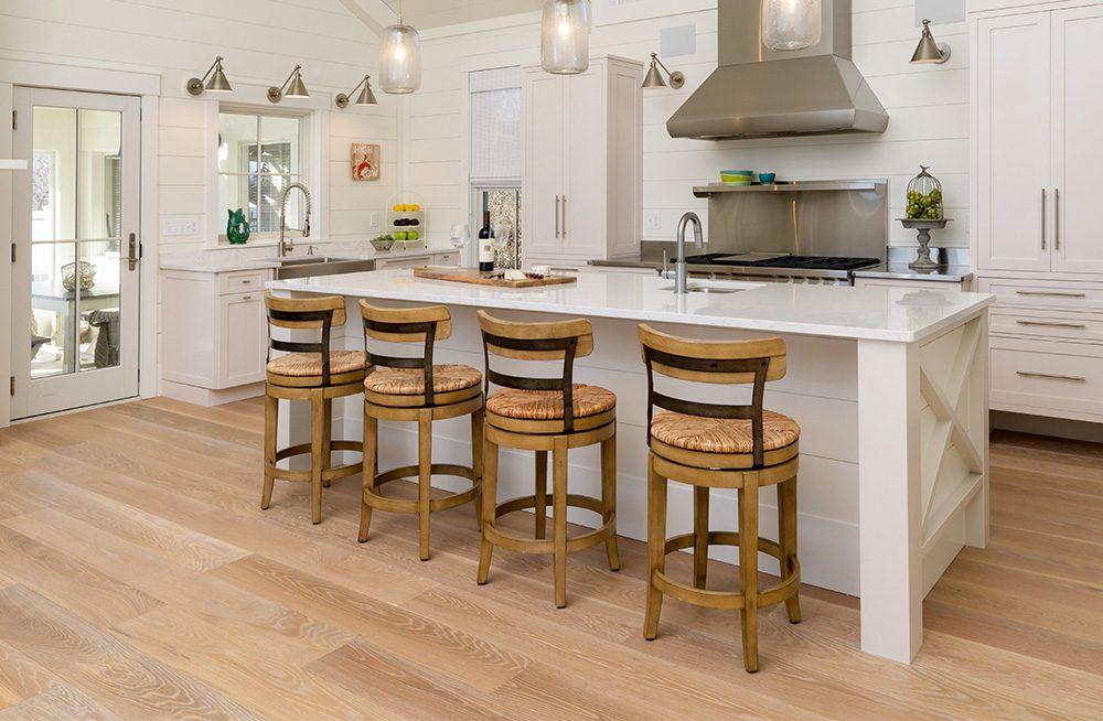 Barstools at a kitchen island