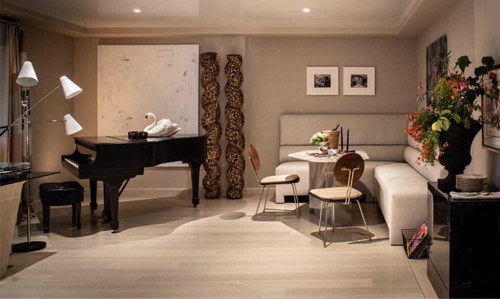 Belew Armour Lounge featuring Carlisle custom flooring