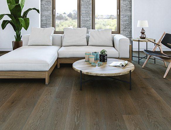 Gray toned floor casual livingroom