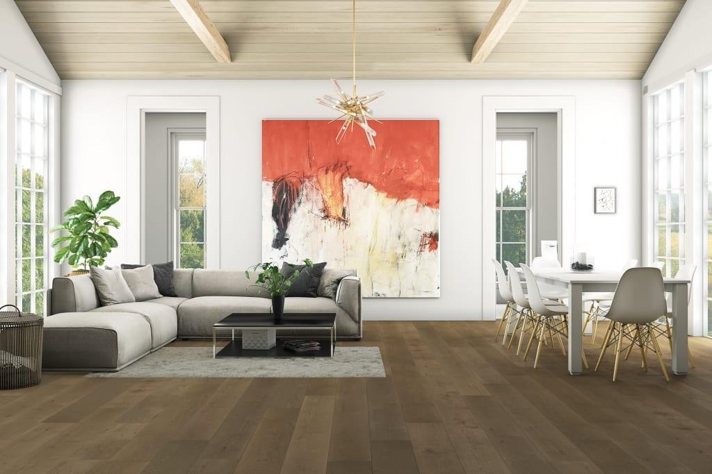 Brown Hardwood Floor Neutral Lviingroom
