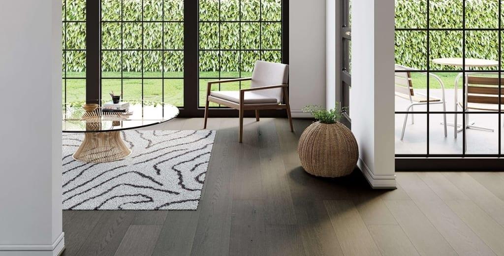 Medium tone gray floor