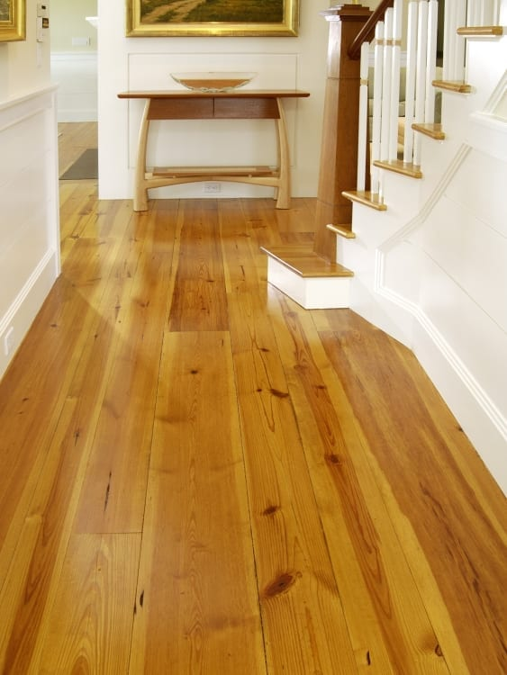 heart pine flooring in hallway